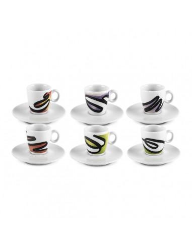 Segni - Set 6 tazzine caffè con...