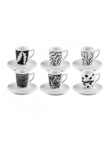 Black & White - Set 6 tazzine caffè...