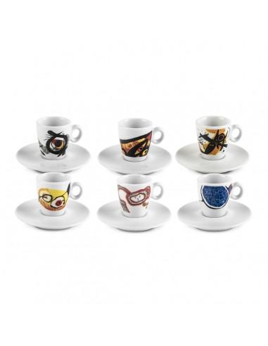 Mirocchio - Set 6 tazzine caffè con...