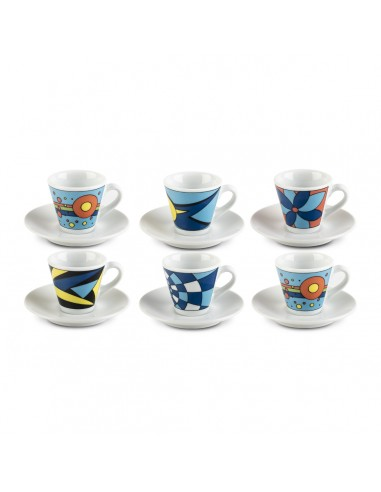 Universo - Set 6 tazzine caffè con...